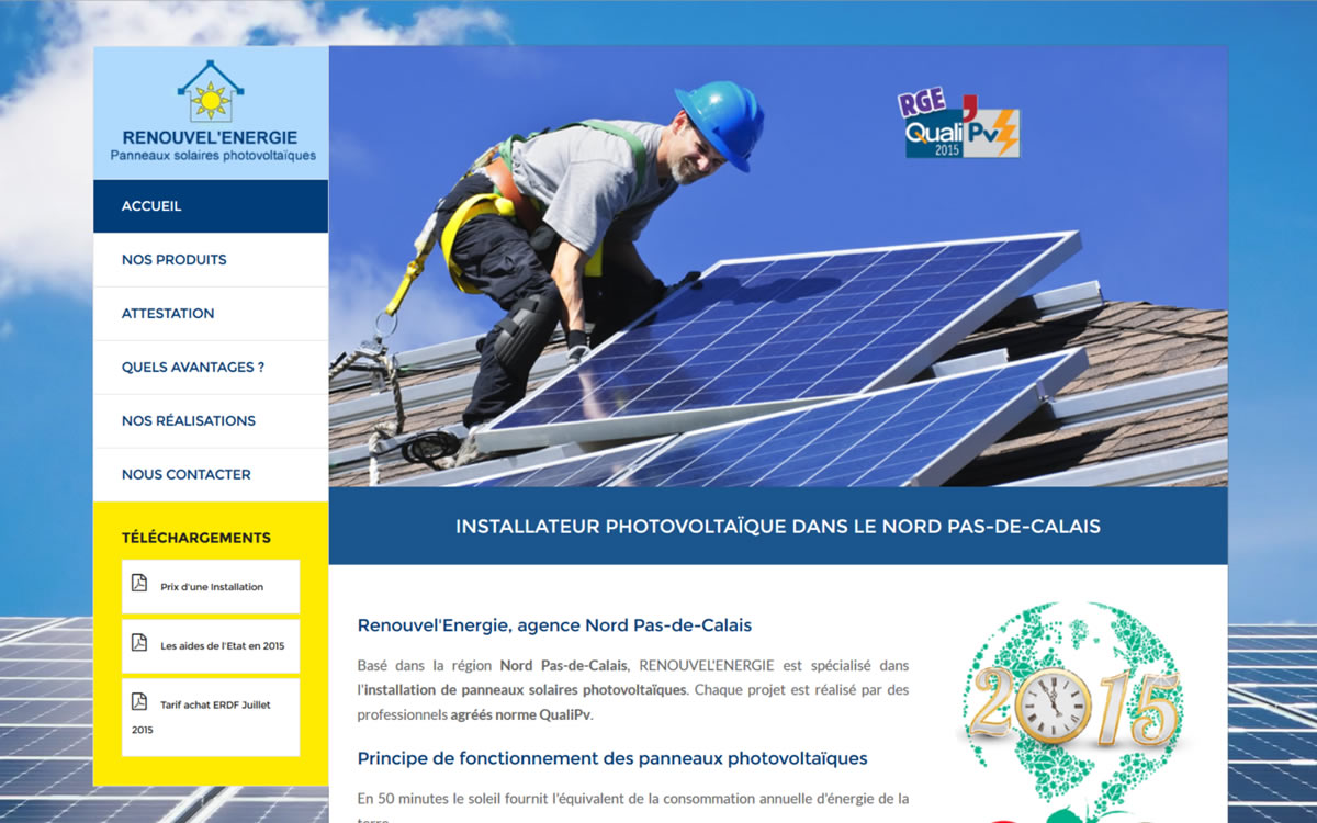 Site internet renouvel energie nord