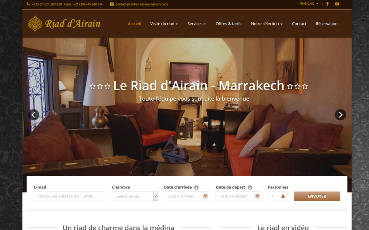 Site internet du riad