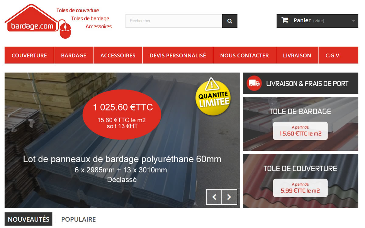 Site e-commerce - Bradage COM